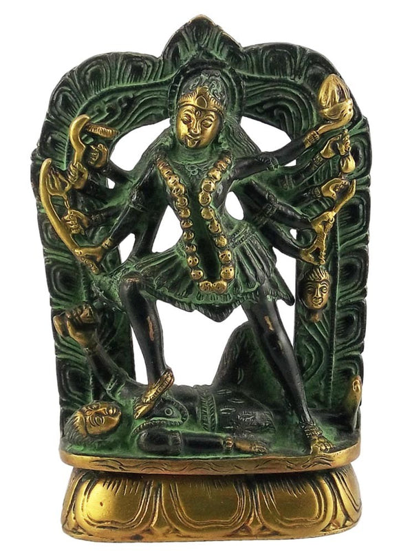 Goddess Maha Kali Statue with Antique Finish