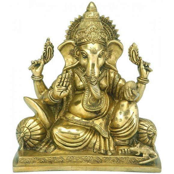 Lord Vinayak First Among All Deities - Brass Sculpture