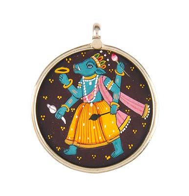 'Lord Varaha' Incarnation of God Vishnu - Pendant