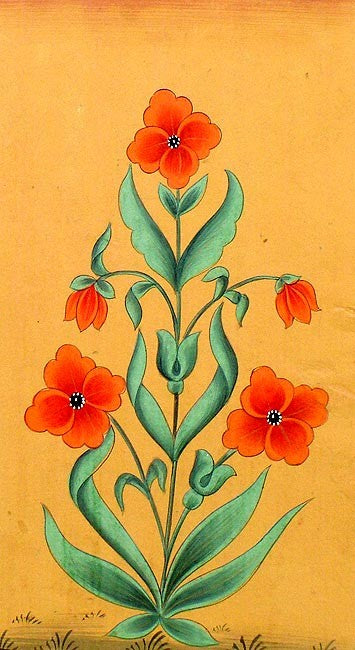 Flowers II-Mugal Art Painting