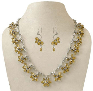 Citrine & Silver Necklace 'Sparkling Warmth'
