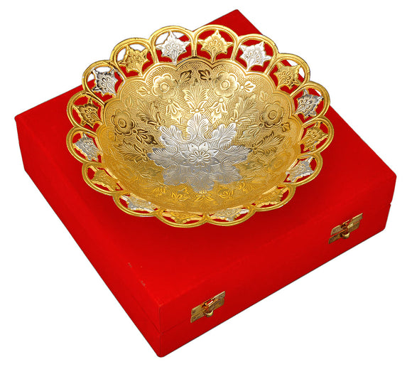 Elegant Gold & Silver Plated Bowl
