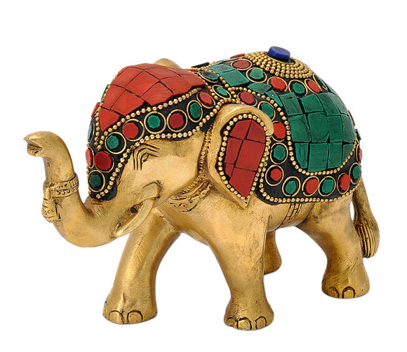 Attractive Elephant Brass Statue