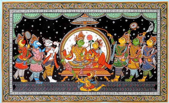 Lord Rama Traditional Patachitra Painting 252