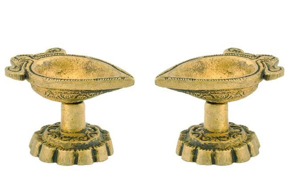 Brass Deepak - Set of 2