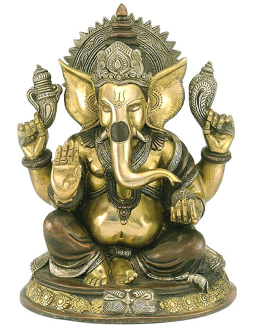 Brass Lord Ganesha Sculptutre 3448