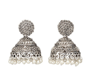 Traditional Silver Plated Jhumki for Women