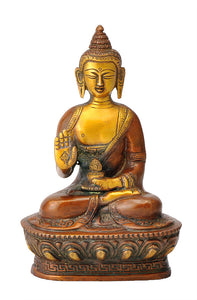 Blessing Lord Medicine Buddha Brass Statue
