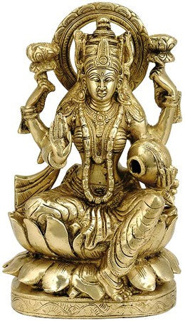 """Goddess Dhana Lakshmi"" Brass Sculpture BS0154"