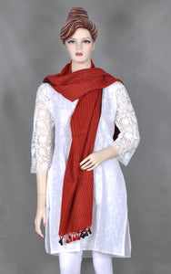 Dark Red Wool Stole