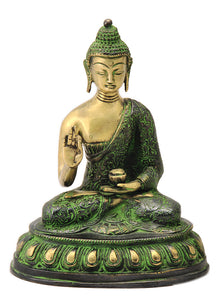 Brass Buddha in Healing Pose
