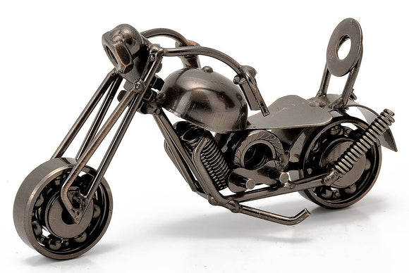 Hand Crafted Miniature Vintage Motorcycle