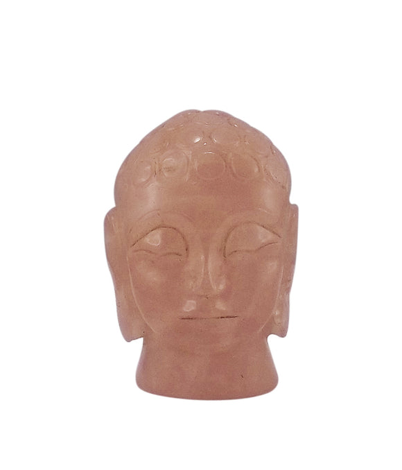 Lord Buddha Rose Quartz Gemstone Carving