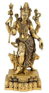The Prime Cause of Creation Lord Ardhanarishwara  Brass Statue