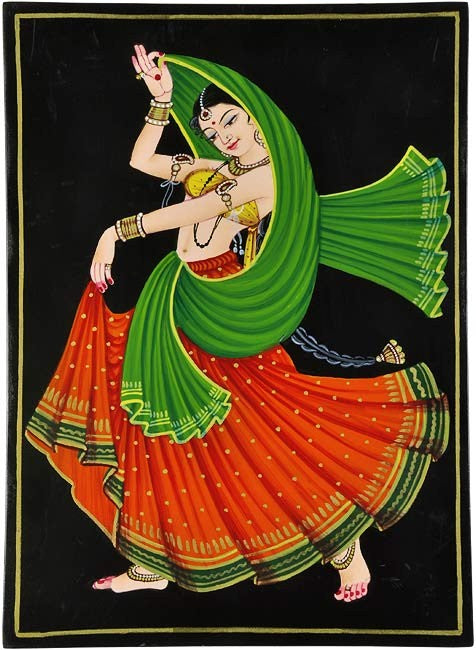 'Gracious Dance' Handmade Nirmal Painting
