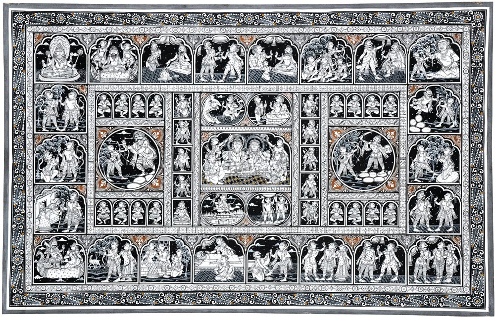 Ramayan - Patachitra Folk Art Painting