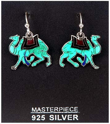 "Silver Earring ""Camels"""