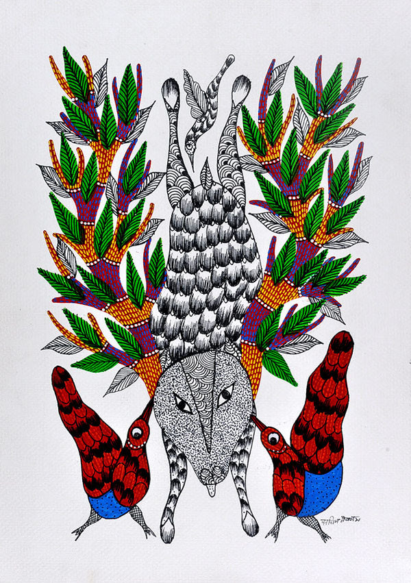 Untitled - Gond Art Panting