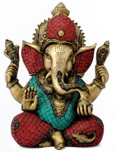 God Gajakaran Ganesha Decorative Brass Statue 4807