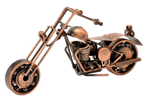 Vintage Crafted Metal Bike in Copper Color Finish