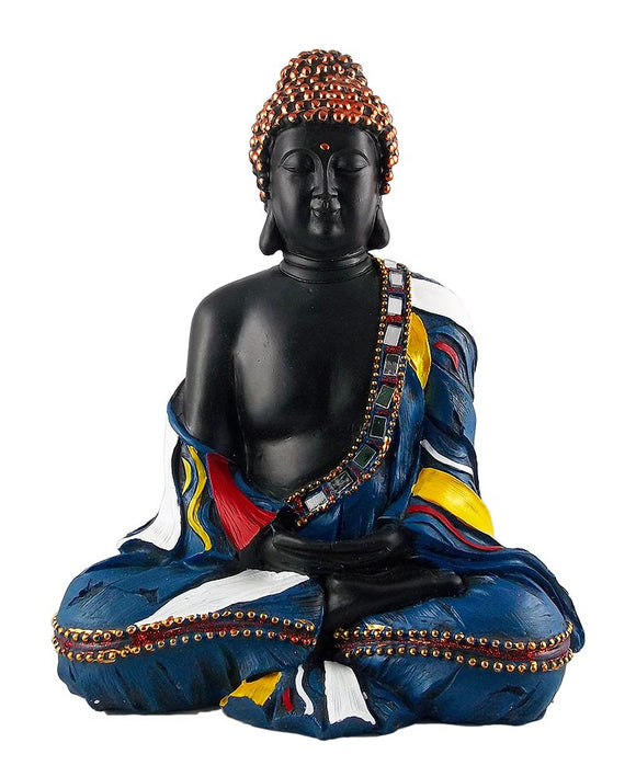 Fiber Decorative Buddha Statue in Meditative Posture