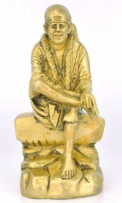Lord Sai Baba of Shirdi - Brass Statue