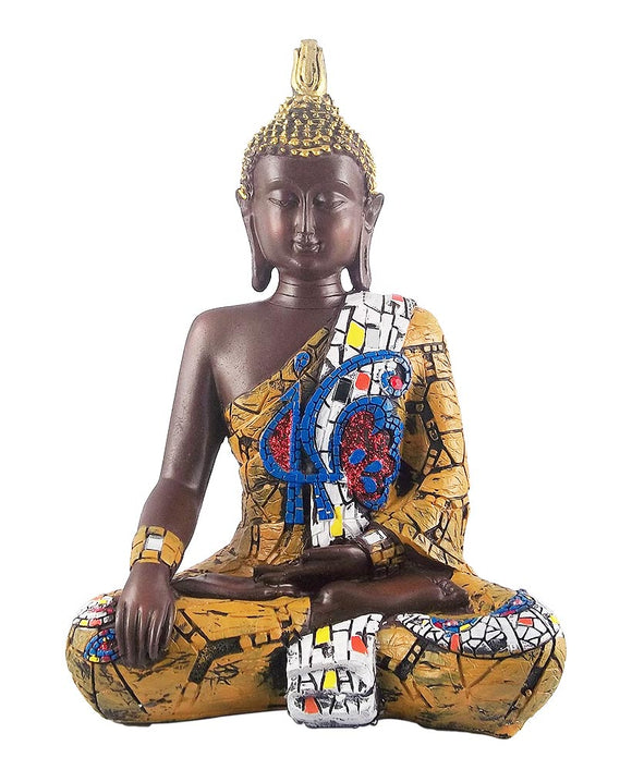 Lord Buddha Decorative Fiberglass Statue Showpiece