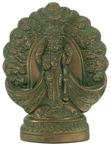 Vishnu Dashavtar Statue 7.5 Inch High Vishwaroopum of Narayan Sculpture 3372