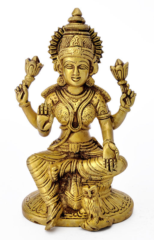 Goddess Lakshmi Brass Sculpture