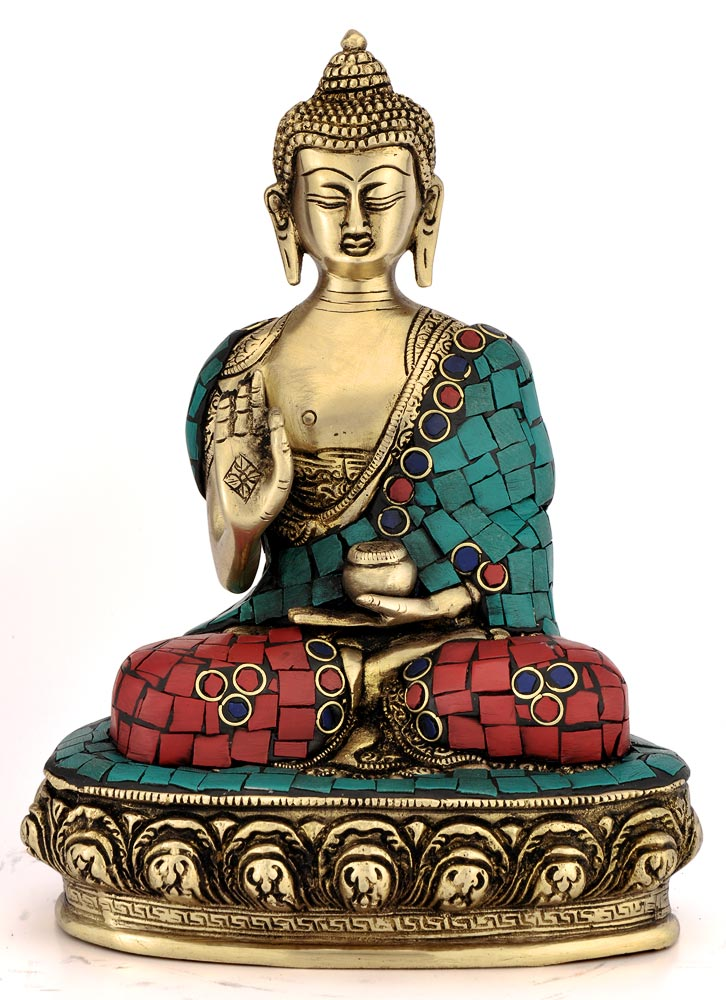 "God Buddha w/ Medicine Pot Figure 9"" Buddhsit Tibet Medical God Statue 4369"