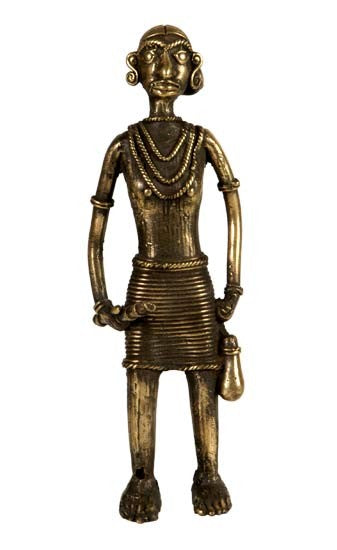 Tribal Brass Statuette - Beautiful Lady