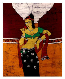Batik Painting-Young Lady