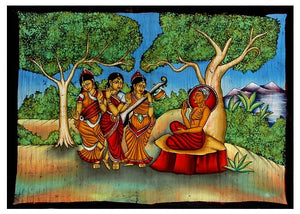 'Buddha' The World Teacher - Batik Painting of India