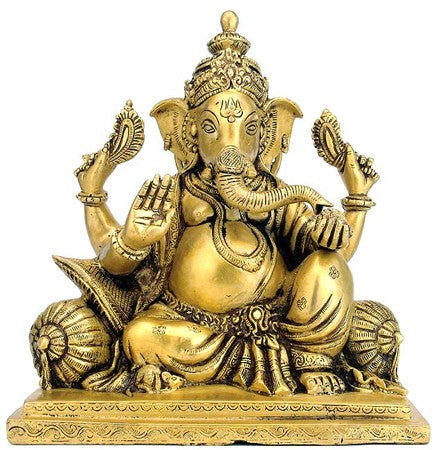 """Gajkarna Lord Vinayak"" - Brass Sculpture 93782"