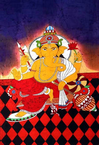 Ganesha - The Beautiful Batik Painting