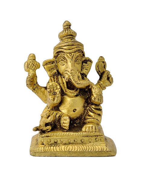 God Ganesha Small Brass Statue