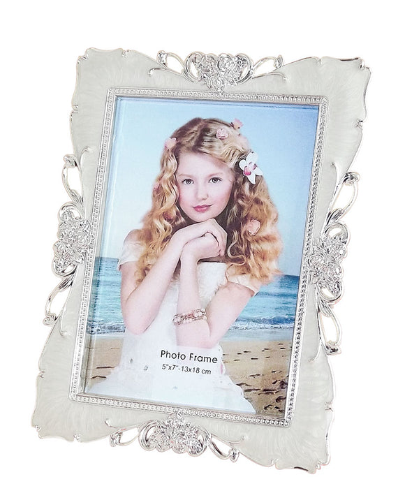 Acrylic Photo Frame in Pearl Silver Shade