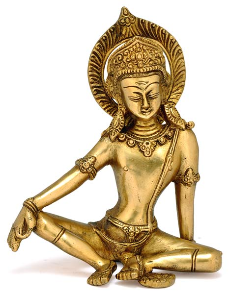 Sitting God Indra Dev Brass Statue 1959