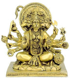 Panchmukhi Hanuman - Brass Sculpture BS0223