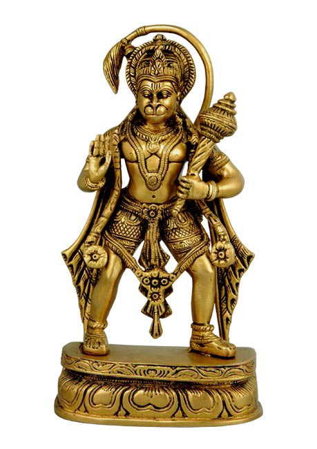 Lord Hanuman Blessing Brass Figure 1639