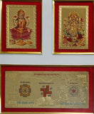 Lakshmi Ganesh and Thousand Rupee Note with Multi Yantras