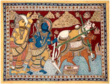The Birth of Sita - Kalamkari Painting