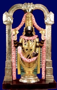Tirupathi Balaji-Painted sculpture