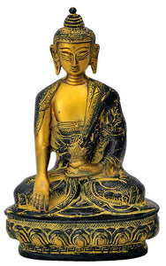 Antiquated Earth Touching Buddha Statue