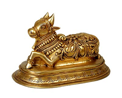 Brass Nandi Carrier of Lord Shive Statue BS1468