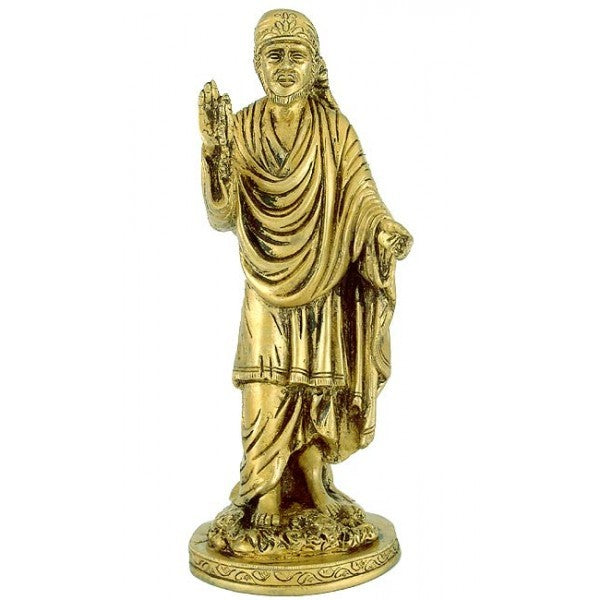 Blessing Sai Baba - Brass Statue
