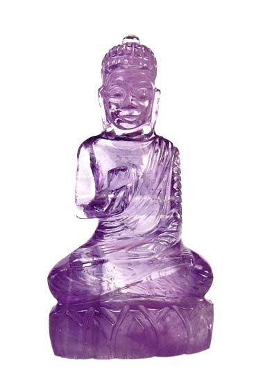 Lord Buddha - Amethyst Stone Carving