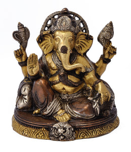 King Ganesha Decorative Brass Sculpture