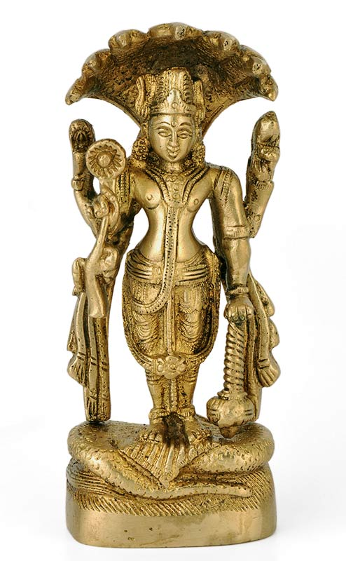 Brass Statue of Shri Narayan 3175