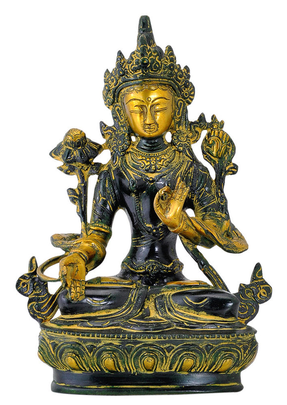 Goddess Tara Brass Decor Sculpture